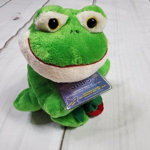 Russ Shining Stars Valentine Frog with Rose Plush